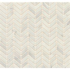 White Carrara Marble Chevron Mosaic Polished (Box of 10 sheets) | Overstock.com Shopping - The Best Deals on Floor Tiles