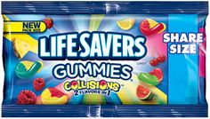Lifesavers Gummies Collisions Share Size Super Store Online Brows Shop Buy at www. Candy Recipes, Gourmet Recipes, Snack Recipes, Candy Gift Baskets, Candy Gifts, Candy Videos, Candy Brands, Hard Candy, Life Savers