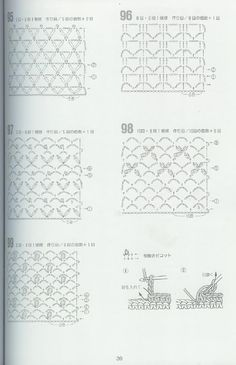 262 patrones crochet  Padrões de crochet