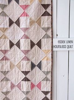 """Essex Linen Hourglass Quilt 