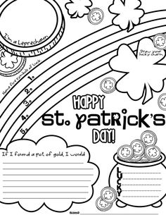 **FREE**St. Patrick's Day Graphic Organizer Freebie to start a great creative writing assignment.
