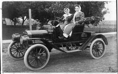 Past Pictures of Modes of Transportation | Model T in Hoxie, Kansas, circa 1910