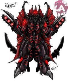 Kaiju Wars: Gigan by Blabyloo229 on DeviantArt