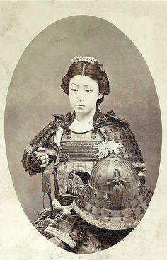 "Female Samurai Warrior: Ganbatte! がんばって ! One Of The ""Onna-Bugeisha:, Female Samurai Warrior Of The Upper Bushi - SAMURAI Class - Feudal Japan, Late 1800's. Ganbatte! がんばって!#samurai #bushi #female #femalesamurai #japan"