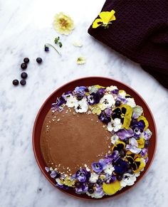 Helen's indulgent chocolate cake decorated with edible flowers http://www.dunnesstores.com/decadent-chocolate-cake-with-edible-flowers/content/fcp-content