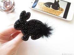 """Брошь Кролик """"Mon ami"""" с Агатом натуральным – купить в интернет-магазине на Ярмарке Мастеров с доставкой"""