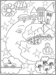 41 best sun moon stars images coloring pages coloring book 2015 Honda Accord Trunk Mat designs coloring book pattern coloring pages coloring for