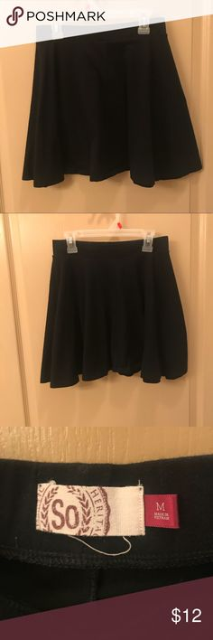 Black skater A-line skirt Kohls So skater A-line black skirt size M Skirts A-Line or Full