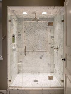 Marble Shower Tile Design 7 (Marble Shower Tile Design design ideas and photos Cozy Bathroom, Small Bathroom, Steam Bathroom, Shower Bathroom, Shower Door, Bathroom Ideas, 1950s Bathroom, Shower Niche, Shower Tiles