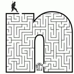 Free printable Maze in the shape of letter n. Kids love mazes, and letter shaped mazes also help with learning the alphabet Letter N Worksheet, Maze Worksheet, Mazes For Kids Printable, Worksheets For Kids, Free Printable, Kindergarten Activities, Activities For Kids, Preschool, Small Letters