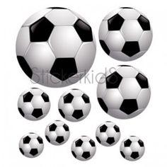 Voetbalset muurstickers