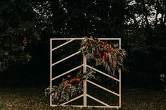Wooded Wedding Inspiration with Bold Colors and Geometric Details - Green Wedding Shoes Backyard Yurt Wedding Inspiration. Wedding Ceremony Backdrop, Ceremony Arch, Ceremony Decorations, Flower Decorations, Wedding Backdrops, Wedding Ceremonies, Wedding Arches, Wedding Decoration, Wedding Reception