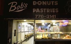 san francisco bay area, san francisco, night photography, bob's donuts