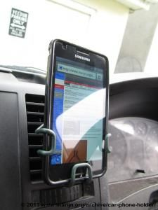 Free DIY wire mobile smart phone car holder (clips into vents) » marijn.org