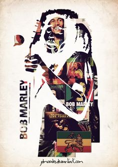 """""""Bob Marley Collage"""" by jdmorales Bob Marley Art, Reggae Bob Marley, Band Posters, Cool Posters, Music Posters, Reggae Art, Rasta Art, Bob Marley Pictures, Famous Legends"""