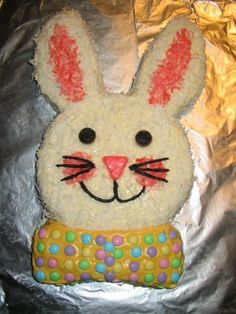 Easter Bunny cake- I used to make one every Easter