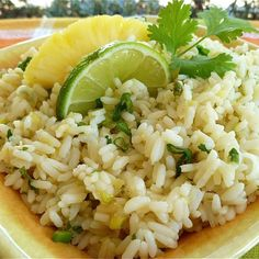 """Pineapple-Lime Rice I """"Great side dish. I served this with chicken fajitas. Two thumbs up from everyone- even the 3 year old!"""""""