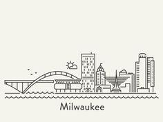 Dribbble - Milwaukee by Anna Trokan