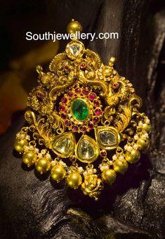 Antique Nakshi Peacock pendant
