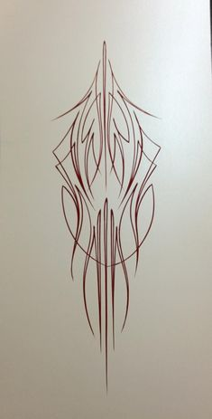 Rob Valentini Valentini Pinstriping Burgundy on pearl white: