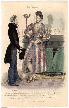 Dandy men, 1830s