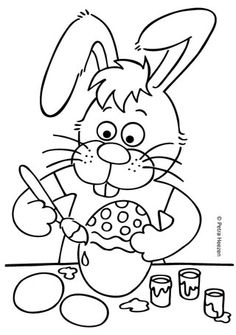 kleurplaat-pasen-small Easter Coloring Sheets, Easter Colouring, Colouring Pages, Coloring Books, Diy For Kids, Crafts For Kids, About Easter, Sketch Notes, Spring Crafts