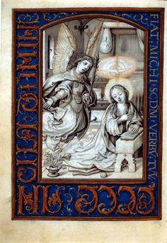 Horas da Virgem - Anunciação | Museu Nacional de Arte Antiga | António de Holanda, atribuído a, 1517 d.C. - 1551 d.C.