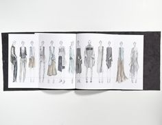 Fashion Sketchbook - fashion design sketches; fashion student portfolio // Jennifer Vinh