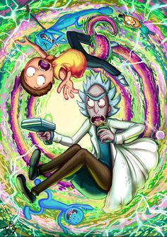 Rick and Morty Rick And Morty Quotes, Rick And Morty Poster, Rick Und Morty Tattoo, Rick And Morty Drawing, Rick I Morty, Ricky And Morty, Stoner Art, Psy Art, Dope Art