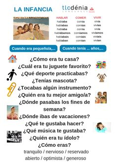 Imperfecto en español Spanish Teaching Resources, Spanish Activities, Elementary Spanish, Spanish Classroom, Spanish Grammar, Spanish Language, Imperfect Spanish, Im Not Perfect, Education