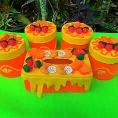 Toples Hias orange strawberry