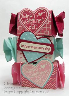Candy Wrapper Valentine's by cmstamps - Cards and Paper Crafts at Splitcoaststampers
