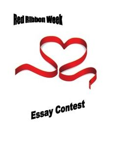 Red Ribbon Week Essay Contest Entry Form - FREE