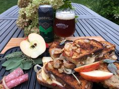 🍁 Fall is here & so is KPA beer! You are gouda love it! Fontina Cheese, White Cheddar Cheese, Apple Sandwich, Cheese Ingredients, Honeycrisp Apples, Apples And Cheese, Complete Recipe, Half Baked Harvest, French Onion