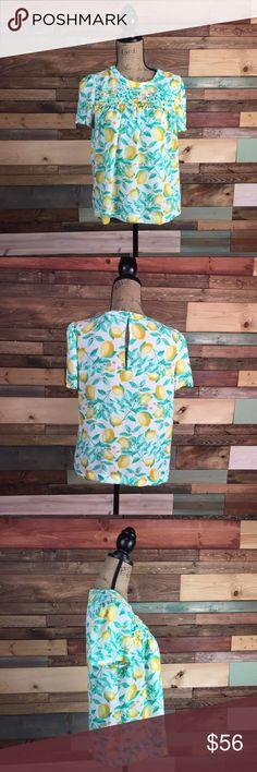 Elle Size Medium Lemon Print Blouse Elle Size Medium Lemon Print Blouse // Bundle your likes and make an offer for best deals @woodsnap! Elle Tops Blouses