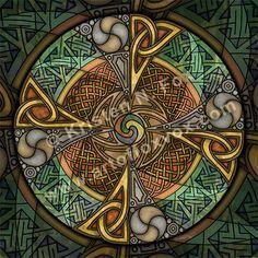 Celtic Aperture Mandala by foxvox.deviantart.com on @deviantART