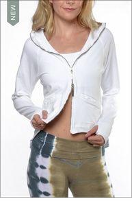 Hi Low Track Jacket w/Hoodie (W-625, White) by Hardtail