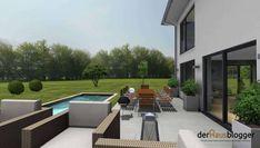 Stadtvilla 224m2 3D1 Outdoor Furniture Sets, Outdoor Decor, House Plans, Patio, Home Decor, Civil Engineering, House Design Plans, Home Plans, Villas