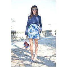 Valentina Siragusa poses wearing a Carven dress after the Carven show... found on Polyvore featuring dresses and white dress
