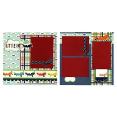 Two Premade Scrapbook Pages - Little Boy