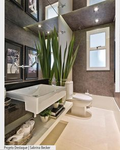 Top Home Interior Design Contemporary Baths, Home Reno, Cool House Designs, Bathroom Styling, Home Interior Design, Home Goods, Furniture Design, Romantic Bedrooms, Potpourri