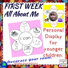 This is a great activity for the first days of the school year. Back to school, with a new class! It may suit Kinder too, if they have assistance. It helps me to get to know the students and recognize their talents and abilities in an informal way. I glean so much information from this activity! There is an Australian spelling version and A4 paper option. There are 4 pages of images to get the thinking happening! This is a cut and paste activity, which is displayed with either a photo or…