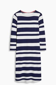 Gestreepte jersey jurk met stretch