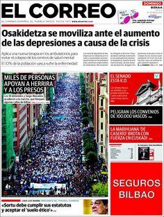Los Titulares y Portadas de Noticias Destacadas Españolas del 6 de Octubre de 2013 del Diario El Correo ¿Que le pareció esta Portada de este Diario Español?