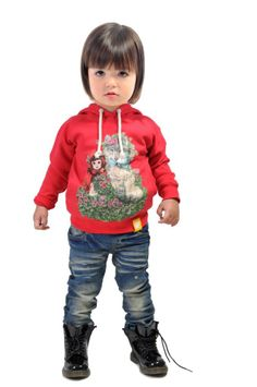 Little Red Riding Hood Hoodie and Nico jeans | Rock Your Kid winter 2014 | www.rockyourbaby.com | Kids Fashion