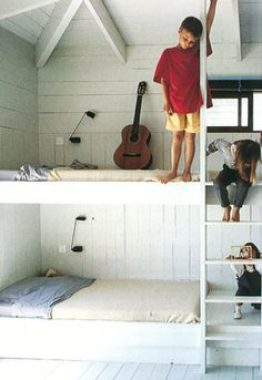 cool minimal bunk beds for kids