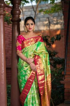 Traditional Kanchipuram sarees designer Kanchipuram silk sarees Kanchipuram silk sarees with price Pattu Sarees Wedding, Wedding Saree Blouse Designs, Pattu Saree Blouse Designs, Wedding Silk Saree, Bridal Sarees, Kanjivaram Sarees Silk, Soft Silk Sarees, Saris, Silk Sarees With Price