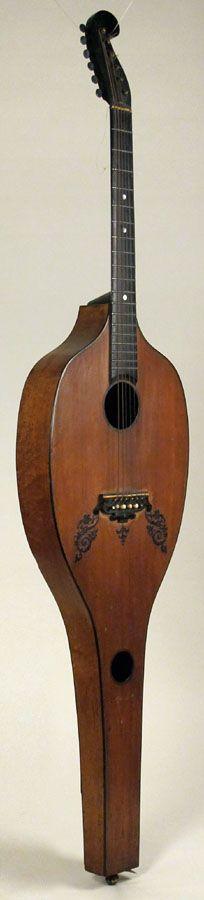 Rare 1830s Scherr Harp Guitar.