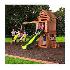 Backyard Discovery Saratoga Cedar Swing Play Set Sophia