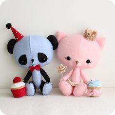 The Princess and the Panda pdf Pattern @belkismachado mami mueroo me encanta la gatita